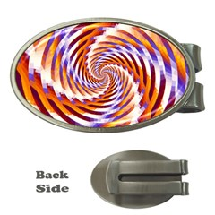 Woven Colorful Waves Money Clips (Oval)