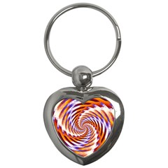 Woven Colorful Waves Key Chains (Heart)