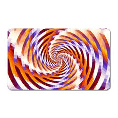 Woven Colorful Waves Magnet (Rectangular)