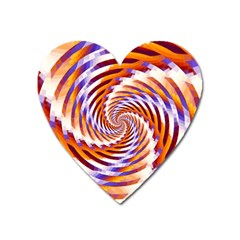 Woven Colorful Waves Heart Magnet