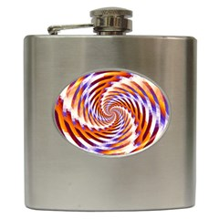 Woven Colorful Waves Hip Flask (6 oz)