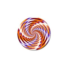 Woven Colorful Waves Golf Ball Marker
