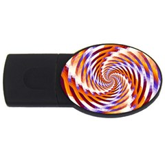 Woven Colorful Waves USB Flash Drive Oval (2 GB)