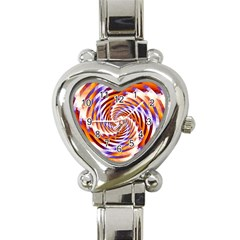 Woven Colorful Waves Heart Italian Charm Watch