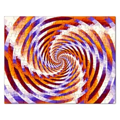 Woven Colorful Waves Rectangular Jigsaw Puzzl
