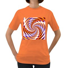 Woven Colorful Waves Women s Dark T Shirt by designworld65