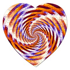 Woven Colorful Waves Jigsaw Puzzle (Heart)