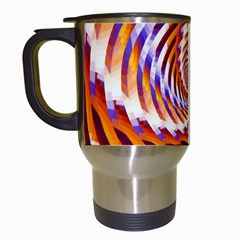 Woven Colorful Waves Travel Mugs (White)