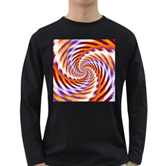 Woven Colorful Waves Long Sleeve Dark T-Shirts