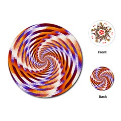 Woven Colorful Waves Playing Cards (Round)