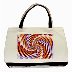 Woven Colorful Waves Basic Tote Bag by designworld65