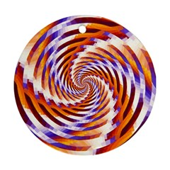 Woven Colorful Waves Round Ornament (Two Sides)