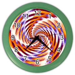 Woven Colorful Waves Color Wall Clocks
