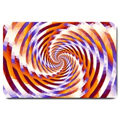 Woven Colorful Waves Large Doormat