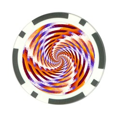 Woven Colorful Waves Poker Chip Card Guard by designworld65