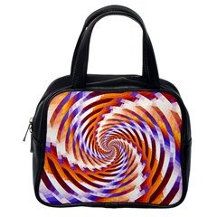 Woven Colorful Waves Classic Handbags (One Side)