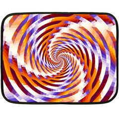 Woven Colorful Waves Fleece Blanket (mini) by designworld65