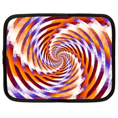 Woven Colorful Waves Netbook Case (xl)  by designworld65