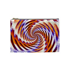 Woven Colorful Waves Cosmetic Bag (Medium)