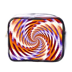 Woven Colorful Waves Mini Toiletries Bags by designworld65