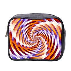 Woven Colorful Waves Mini Toiletries Bag 2 Side by designworld65