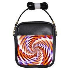 Woven Colorful Waves Girls Sling Bags