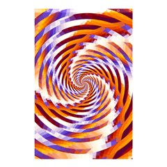 Woven Colorful Waves Shower Curtain 48  X 72  (small)  by designworld65
