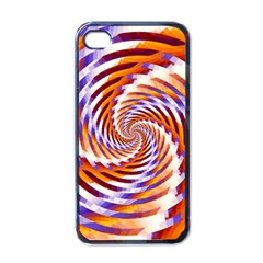 Woven Colorful Waves Apple Iphone 4 Case (black) by designworld65