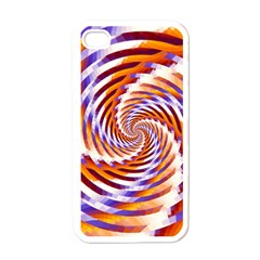Woven Colorful Waves Apple iPhone 4 Case (White)