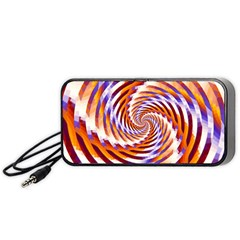 Woven Colorful Waves Portable Speaker (black) by designworld65