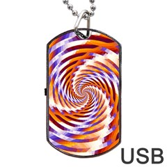 Woven Colorful Waves Dog Tag Usb Flash (one Side)