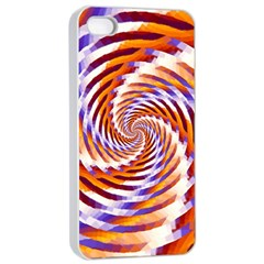 Woven Colorful Waves Apple iPhone 4/4s Seamless Case (White)