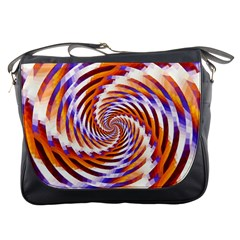 Woven Colorful Waves Messenger Bags