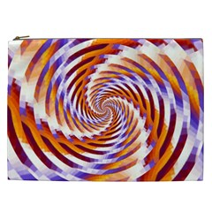 Woven Colorful Waves Cosmetic Bag (XXL)