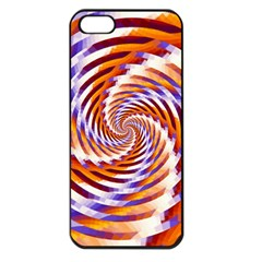 Woven Colorful Waves Apple Iphone 5 Seamless Case (black) by designworld65