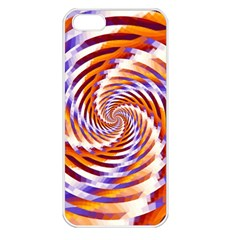 Woven Colorful Waves Apple Iphone 5 Seamless Case (white) by designworld65