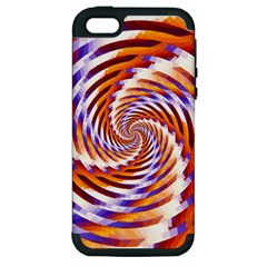 Woven Colorful Waves Apple iPhone 5 Hardshell Case (PC+Silicone)