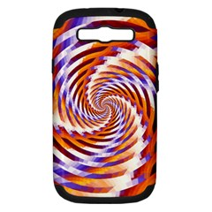 Woven Colorful Waves Samsung Galaxy S Iii Hardshell Case (pc+silicone)