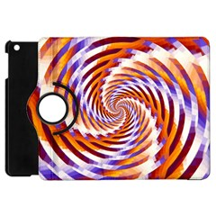 Woven Colorful Waves Apple Ipad Mini Flip 360 Case by designworld65