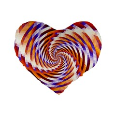 Woven Colorful Waves Standard 16  Premium Heart Shape Cushions