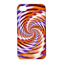 Woven Colorful Waves Apple Iphone 4/4s Hardshell Case With Stand by designworld65