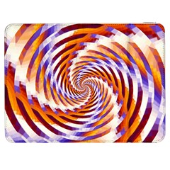 Woven Colorful Waves Samsung Galaxy Tab 7  P1000 Flip Case by designworld65