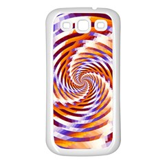 Woven Colorful Waves Samsung Galaxy S3 Back Case (White)