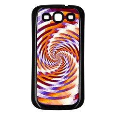 Woven Colorful Waves Samsung Galaxy S3 Back Case (Black)