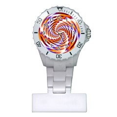 Woven Colorful Waves Plastic Nurses Watch