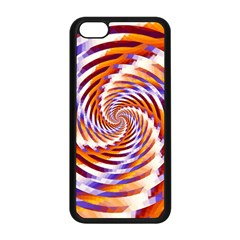 Woven Colorful Waves Apple Iphone 5c Seamless Case (black) by designworld65