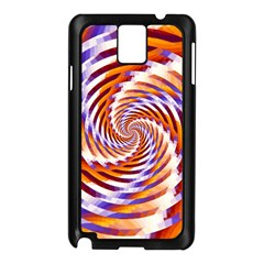 Woven Colorful Waves Samsung Galaxy Note 3 N9005 Case (black) by designworld65