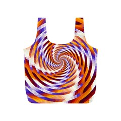Woven Colorful Waves Full Print Recycle Bags (S)