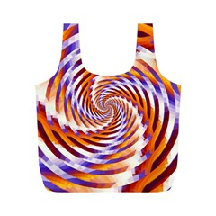 Woven Colorful Waves Full Print Recycle Bags (m)  by designworld65
