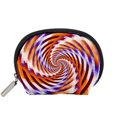 Woven Colorful Waves Accessory Pouches (Small)